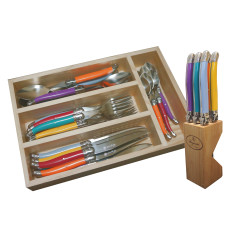 Laguiole by Louis Thiers multi-set pack with multi coloured handles