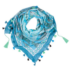 Carnival cotton scarf in blue