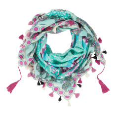 Carnival cotton scarf in mint