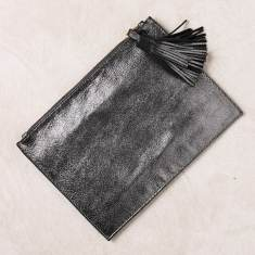 Evening clutch in dark grey