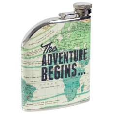 Cartography hip flask