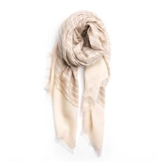 Cashmere Lena scarf pastel pinstripe