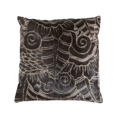 Cascara cushion in dark brown or black