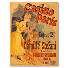 Vintage casino Paris ready to hang canvas print
