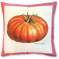 Millot Pumpkin linen cushion cover