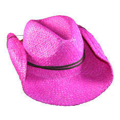 Kids' cowboy hat in pink