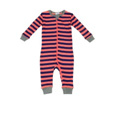 Campbell stripe footless onesie