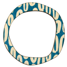 Blue hoops reversible bangle