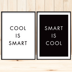 Cool is smart art prints (set of 2)