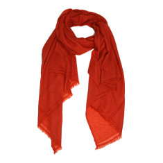 Moye cashmere stole in burnt orange