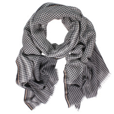 Berlin wool silk check scarf (various colours)
