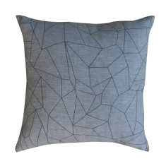 Geometric square cushion cover