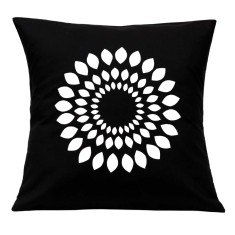 Leaf circle handmade cushion cover