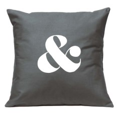 Ampersand handmade cushion cover (various colours)