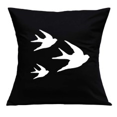 Swallows handmade cushion cover