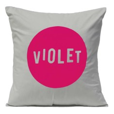 Personalised name cushion in grey
