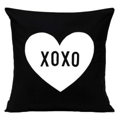 XOXO love heart handmade cushion cover
