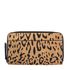Delilah leather wallet in leopard
