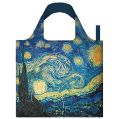 LOQI reusable bag in museum collection in starry night