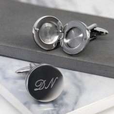 Personalised Round Locket Cufflinks