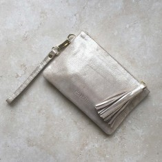 Mini Masai Mara clutch in light gold