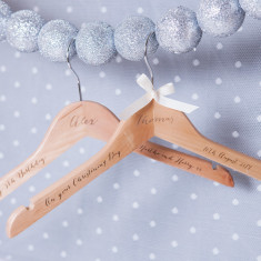 Personalised Engraved Christening Hanger