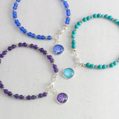 Gemstone Yoga Lotus Bracelet