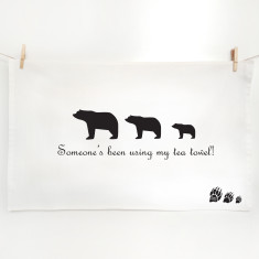 Goldilocks and the three bears tea towel