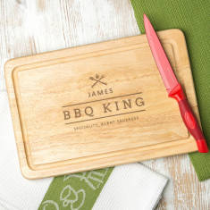 Personalised Bbq King Men's Chopping Board
