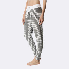 Santa Monica Pants Grey Marle & White
