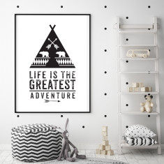 The greatest adventure children's art print