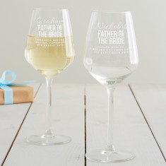 Personalised Father Of The Bride Wine Glass