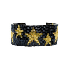 Gold and Black Star cuff
