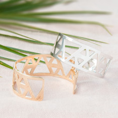 Personalised Triangle Cuff