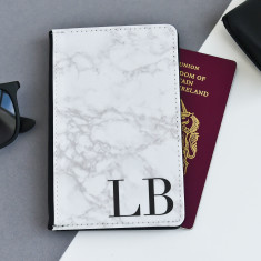 Marble Personalised Passport Cover