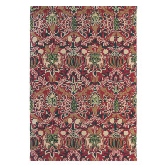 Brink & Campman presents William Morris Granada Rug in red/black