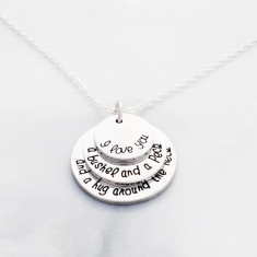I love you a bushel and a peck and a hug around the neck necklace in silver