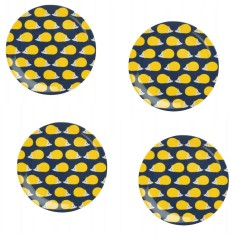 Kissing Hedgehogs Melamine Plates (Set of 4)
