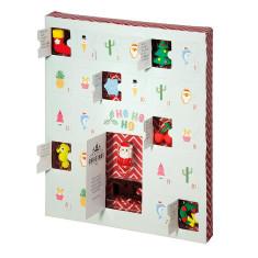 Christmas Themed Erasers Advent Calendar