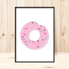Donut art print (various sizes)