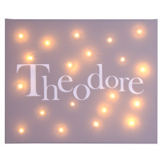 Celebration name illuminated canvas