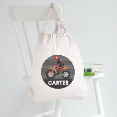 Personalised Dirt Bike Library Bag