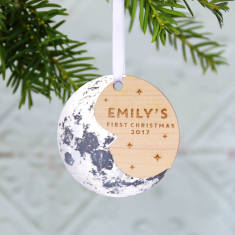 Baby's First Christmas Moon Tree Decoration