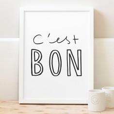 C'est bon typography print