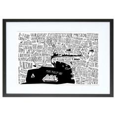 Melbourne burbs print