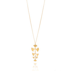 Tropical Fern Necklace Gold