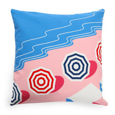 Miramar Beach Basque Linen Cushion Cover