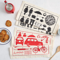 Airfix London tea towel