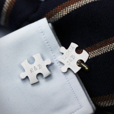 Sterling silver Puzzle Cufflinks