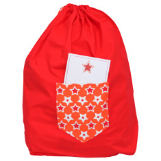Dear Santa Christmas sack in red and orange